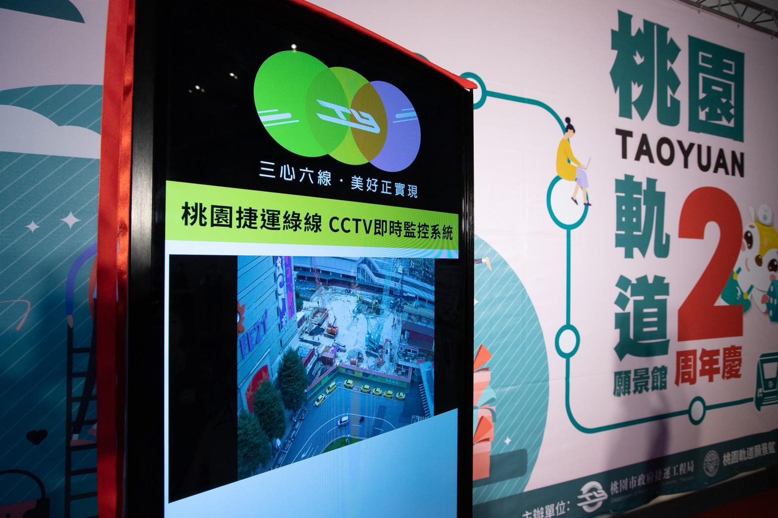 桃園捷運綠線CCTV工區即時影像顯示器