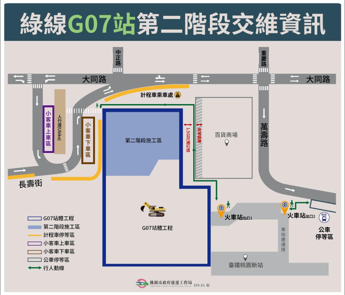 綠線G07站第二階段交維資訊