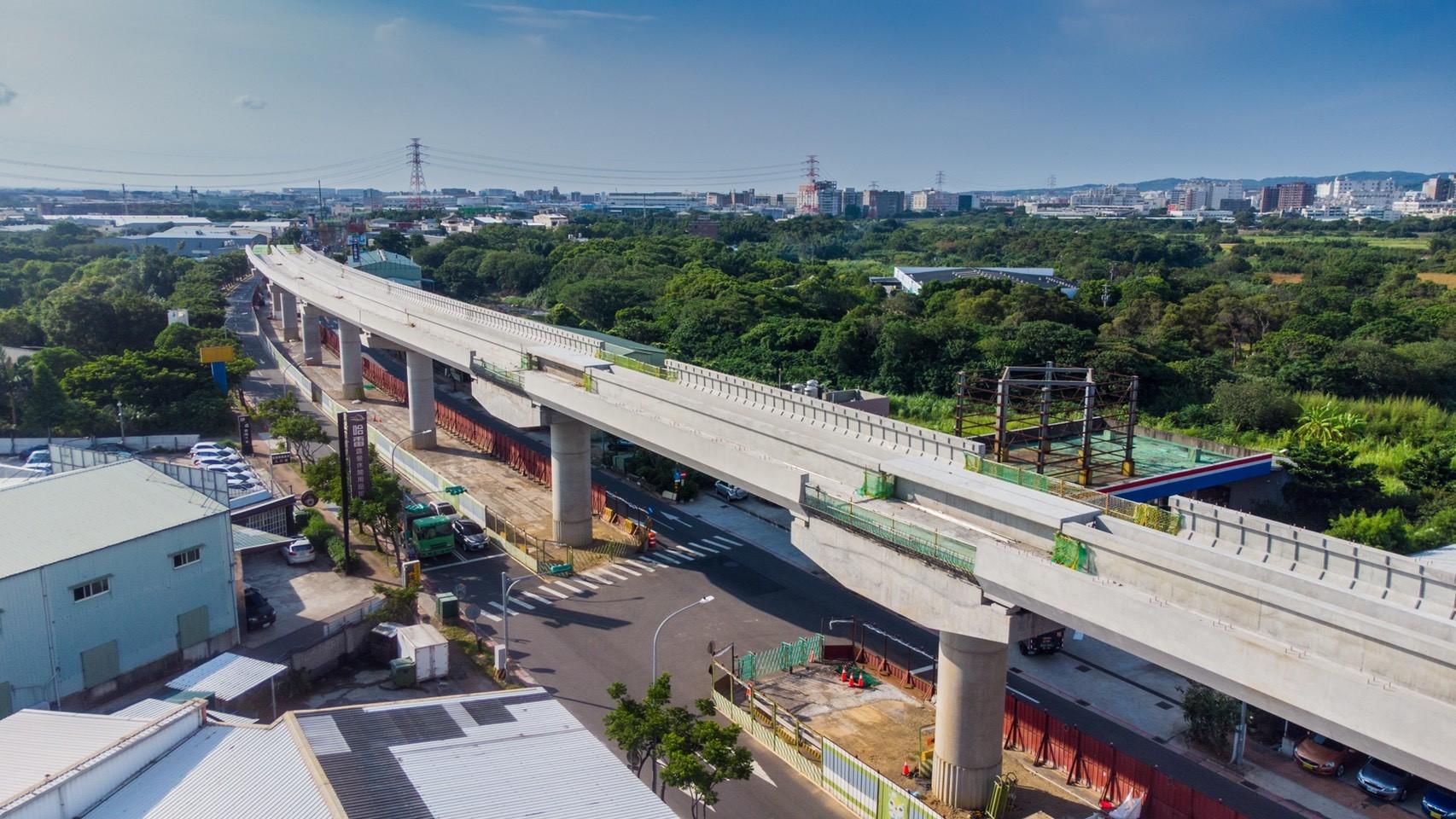 蘆竹區中正北路預鑄混凝土U型梁施工完成照片