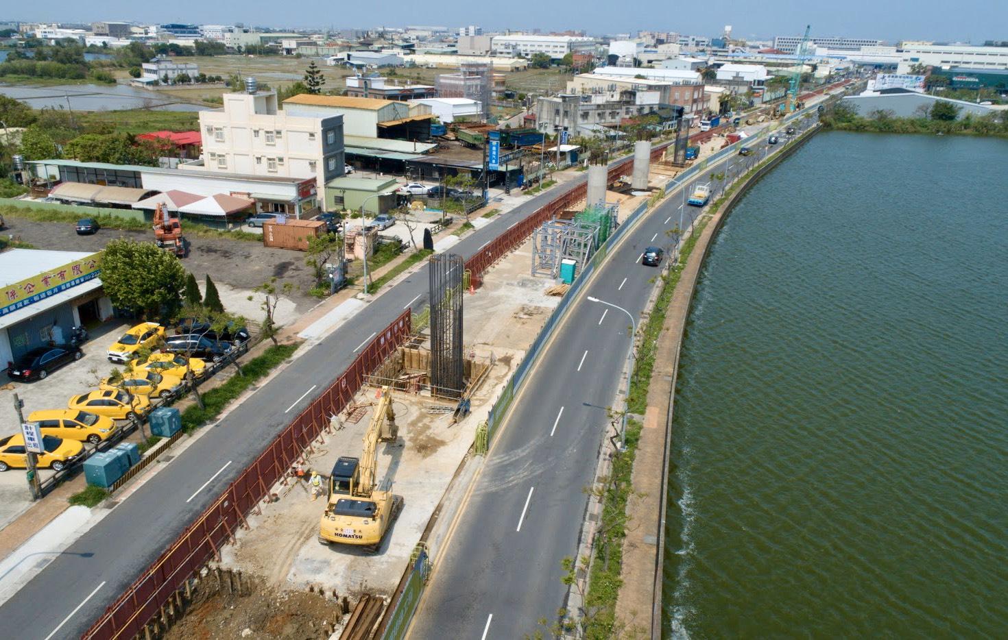 高架橋下部結構施工情形