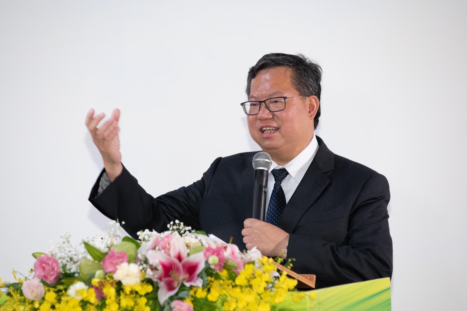 蔡總統參訪桃園軌道願景館-桃園市鄭文燦市長致詞